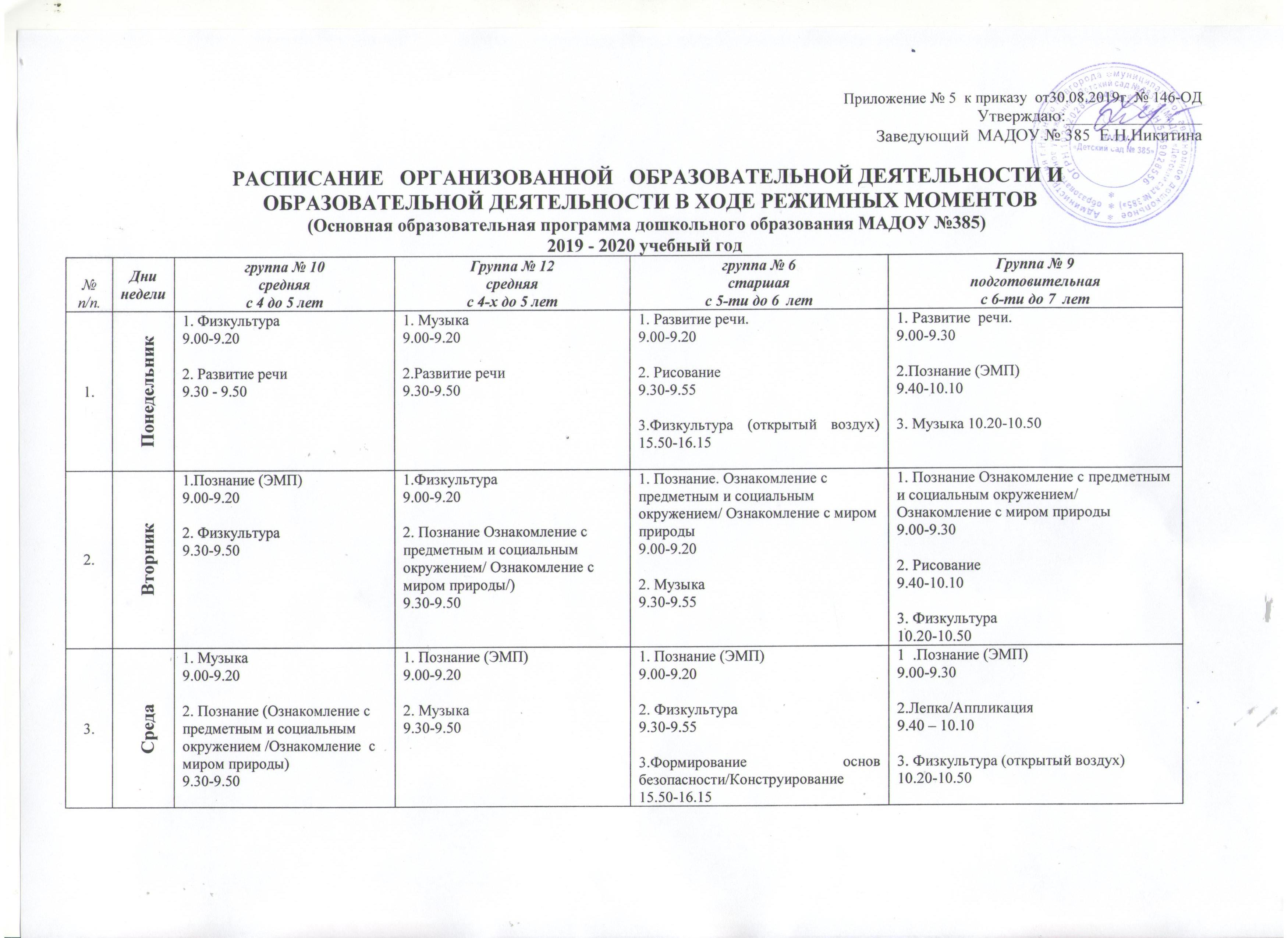 расписание2019 ср+ст